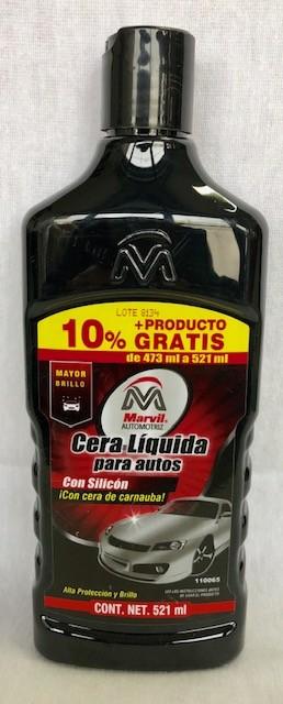 CERA LIQUIDA C/SILICON ROJA 473 ML. MARVIL