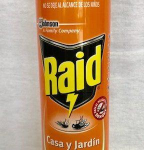 INSECTICIDA RAID CASA Y JARDIN 400ML.