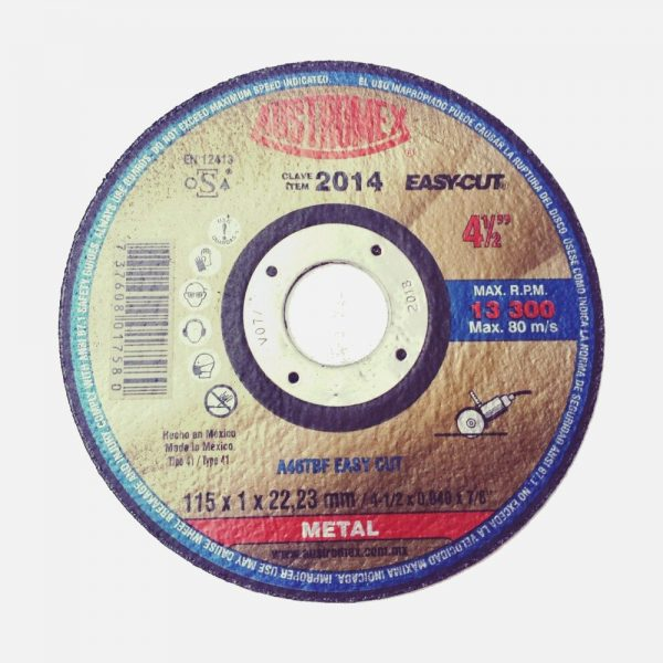 "DISCO 4.5"" 2014 EASYCUT CET METAL 1 X 7/8 CTE RAPIDO ECO"