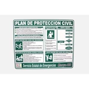 PLAN DE PROTECCION CIVIL SEÑALAMIENTO EN PVC DE 30 X 40