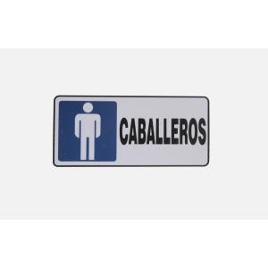 SEÑALAMIENTO DE SANITARIO HOMBRES 20 X 10