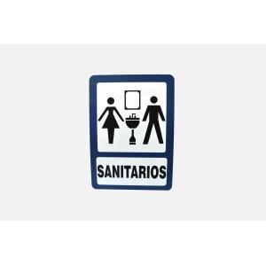 SEÑALAMIENTO DE SANITARIOS DAMA Y HOMBRES 40 X 30